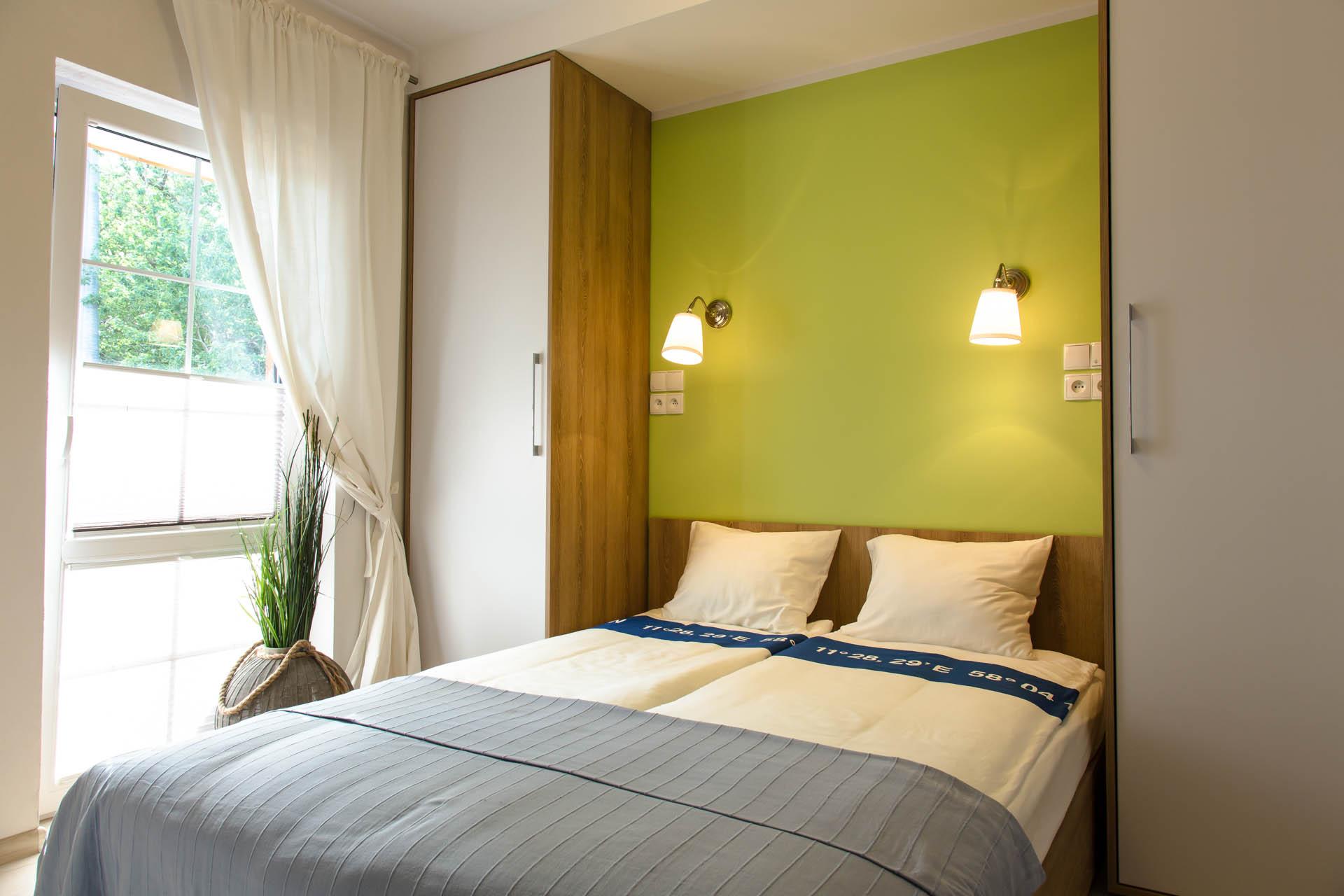 Sypialnia - Apartament Zachodni - Rowy - Apartamenty Plażowe